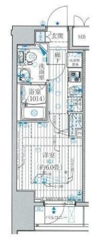 プレール・ドゥーク東京EAST / 406 部屋画像1